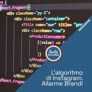 L'ALGORITMO DI INSTAGRAM | ALLARME BRAND